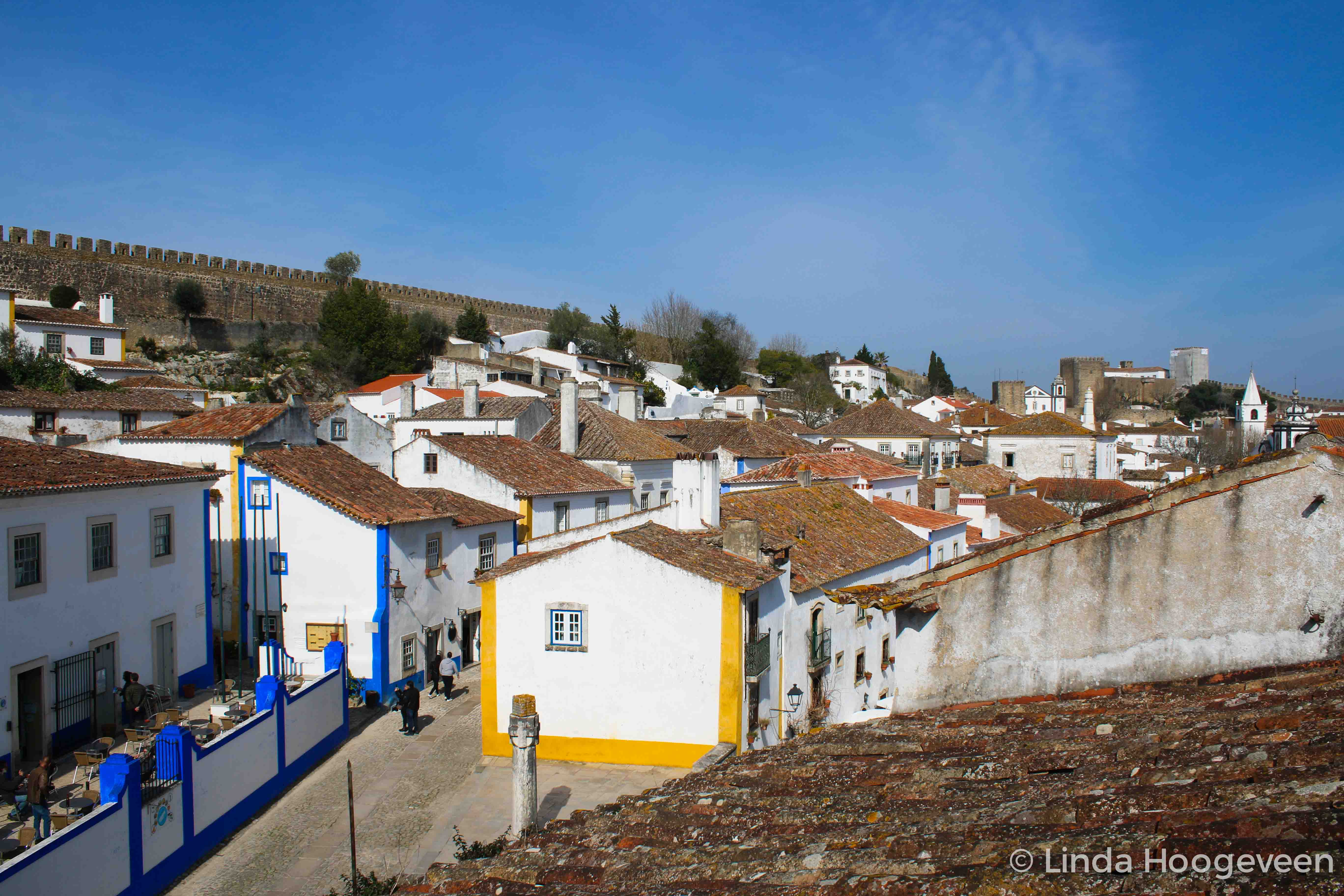 Uitzicht vanaf stadsmuur Óbidos