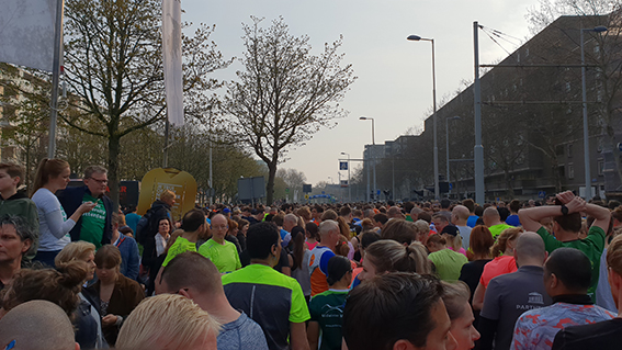 Kwart Marathon Rotterdam Start