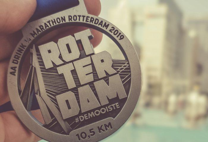 Kwart Marathon Rotterdam Medaille